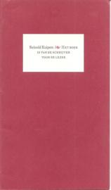Kuipers, Reinold: Het boek is van de schrijver voor de lezer