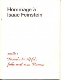 Catalogus Stedelijk Museum 502b: Hommage a Isaac Feinstein.