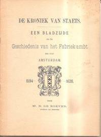 Roever, Mr. N. de: de Kroniek van Staets
