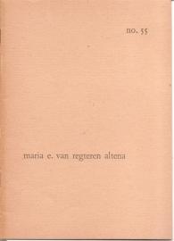 Catalogus Stedelijk Museum 055: Maria E. van Regteren Altena.