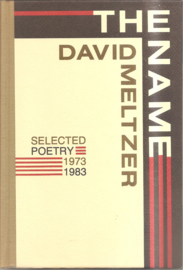 Meltzer, David: The name (gesigneerd)