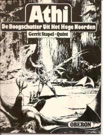 """Oberon Zwartwit Reeks 36: """"ATHI De boogschutter uit het hoge noorden""""."""