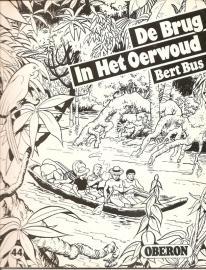"""Oberon Zwartwit Reeks 44: """"De brug in het oerwoud""""."""
