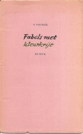 """Vestdijk, Simon: """"Fabels met kleurkrijt""""."""