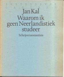 """Kal, Jan: """"Waarom ik geen Neerlandistiek studeer""""."""