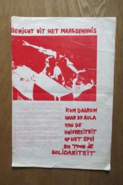 Maagdenhuis: Bericht uit het Maagdenhuis (affiche)