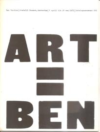 Catalogus Stedelijk Museum 543: Ben Vautier