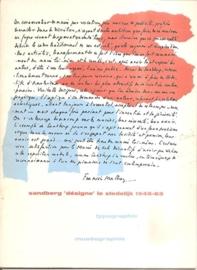 """Sandberg, Willem: """"Sandberg 'désigne' le stedelijk 1945-63""""."""