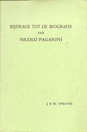 "Spronk, J.E.W.: ""Bijdrage tot de biografie van Nicolo Paganini""."