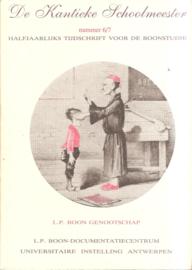 boon, L.P. (over -): De Kantieke Schoolmeester nummer 6/7