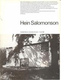 Catalogus Stedelijk Museum 673: Hein Salomonson.