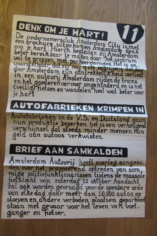 Affiche Aktiegroep Amsterdam Autovrij 11
