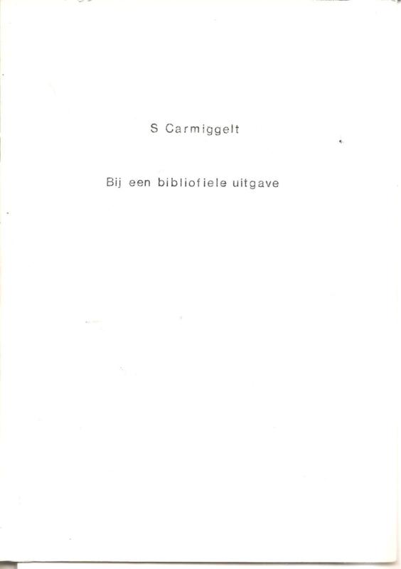 Bij een bibliofiele uitgave