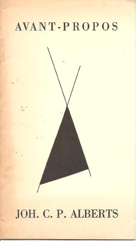 Alberts, Joh. C.P.: Avant-Propos
