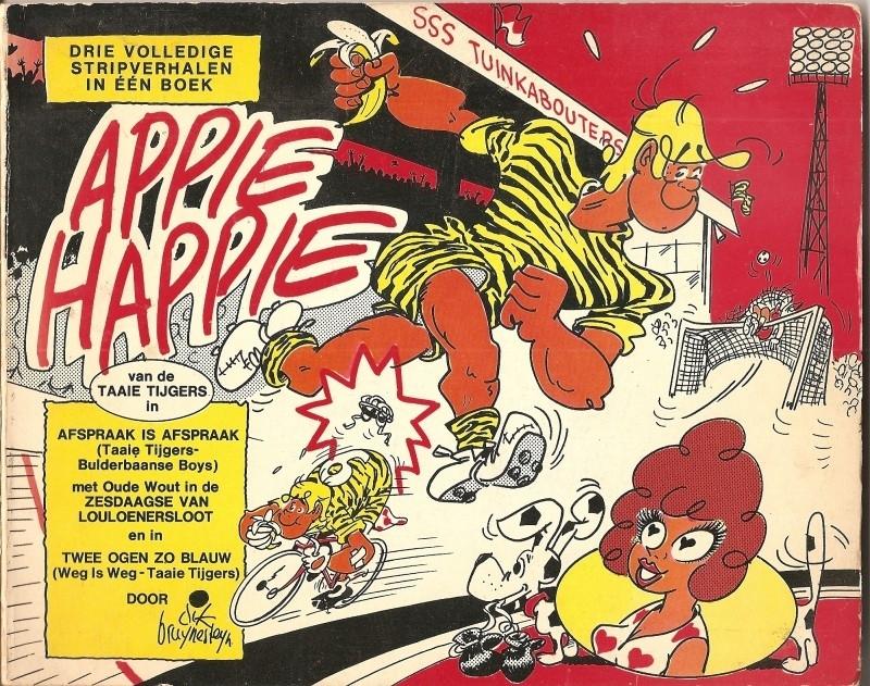 Appie Happie: drie volledige stripverhalen in een boek.