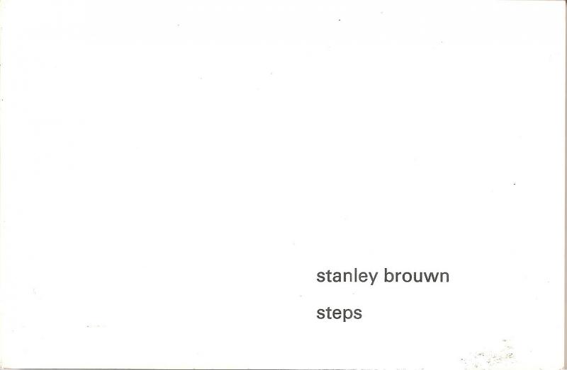"""Catalogus Stedelijk Museum 500: """"Stanley Brouwn: steps"""""""