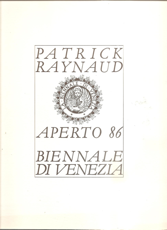 Raynaud, Patrick: Aperto 86