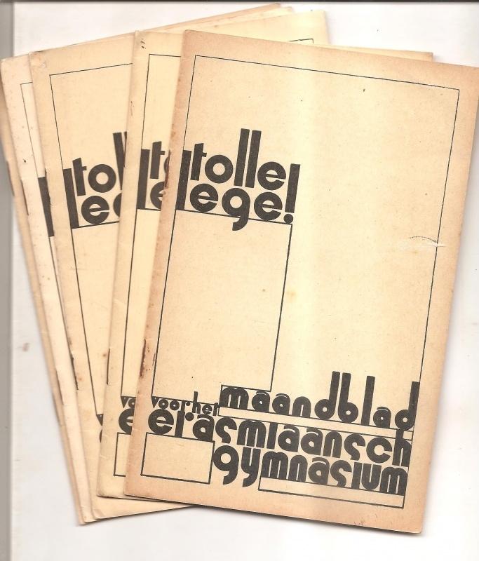 Tolle Lege (maandblad voor het Erasmiaansch Gymnasium), 5 exemplaren