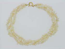 Armband witte parels barok -3 strengen-