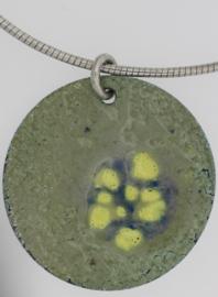 Hanger Emaille op zilver -twee kanten draagbaar-