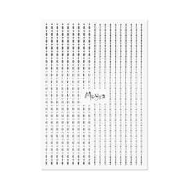 Moyra Nail Art Strips Dots No. 02 Silver