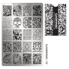Moyra Stamping Plaat 03 Ornaments