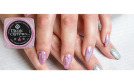 Magic Holografic Chrome met glitter PINK . 118076