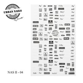 Nail Art Sticker II - 4 (NAS)