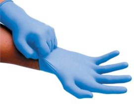 Handschoenen Soft Nitril  Blauw  100  STUKS  Medium