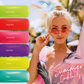 Magnetic Gelpolish  Summer Cocktails Set van  6 kleuren. 48-49-50-51-52-53