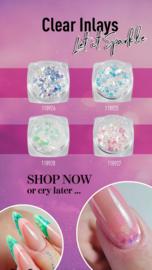 Magnetic Clear Inlay set van 4 kleuren Purple Pink-Green Blue-Pink Green-Purple Pink