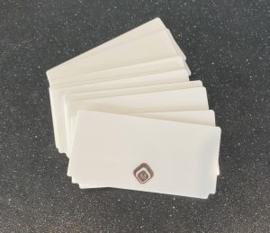 Magnetic Witte Showkaartjes voor in je nailart Box 10 stuks 178031