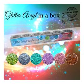 Urban Glitter Acryl in a Box 6x10 gram  Box 2