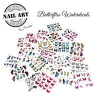 Butterfly Waterdecals zakje met 24 velletjes