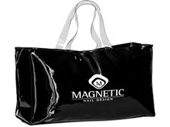 Magnetic big shopper tas zwart lak!  310214