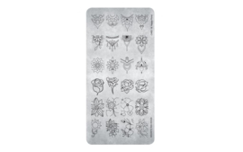 Magnetic Stamping Plate Happy Floral. 118621  Card 18