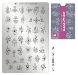 Moyra Stamping Plaat 77 Blossometry