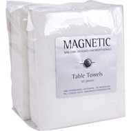 magnetic table towels wit 50 stuks Vierkant pak.