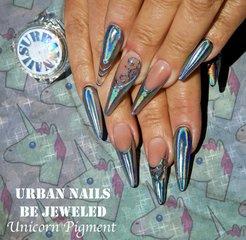 Aanbrengen van het be Jeweled pigment van Urban