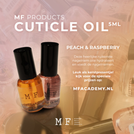 MF Cuticle Oil Strawberry 5 ml 20 stuks en MF Cuticle Oil Peach 20 stuks Mix
