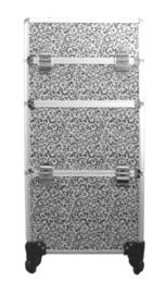 Trolley zilver met zwarte barok krullen 139.95 (alleen af te halen in de winkel)