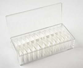 Press- On Coffin Baby Stiletto Clear tips in box 504 stuks