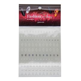 Fashion Stickers Silver - Diamond 117044