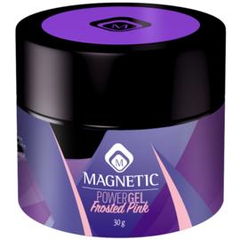 Magnetic  PowerGel Frosted Pink 30g in een pot 104211  Is een lichtroze dekkende kleur
