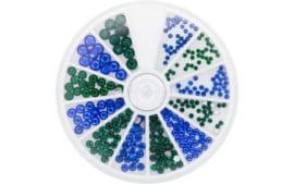 Magnetic rhinestones Carousel Sapphire @ Emerald   6 Sizes 270 stuks  118303