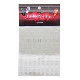 Fashion Stickers Silver - Square 117043