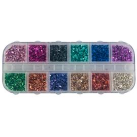 Mixed Inlay Crunch 117028  12 prachtige kleuren in een handig doosje.