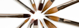 Penseel reinigingstips:  Acryl