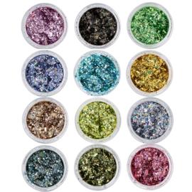 Nail art Confetti Inlay