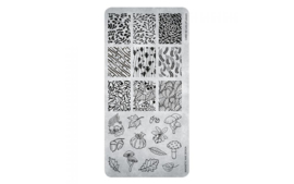 Magnetic Stamping Plate - Lots of Leafs 40 118643